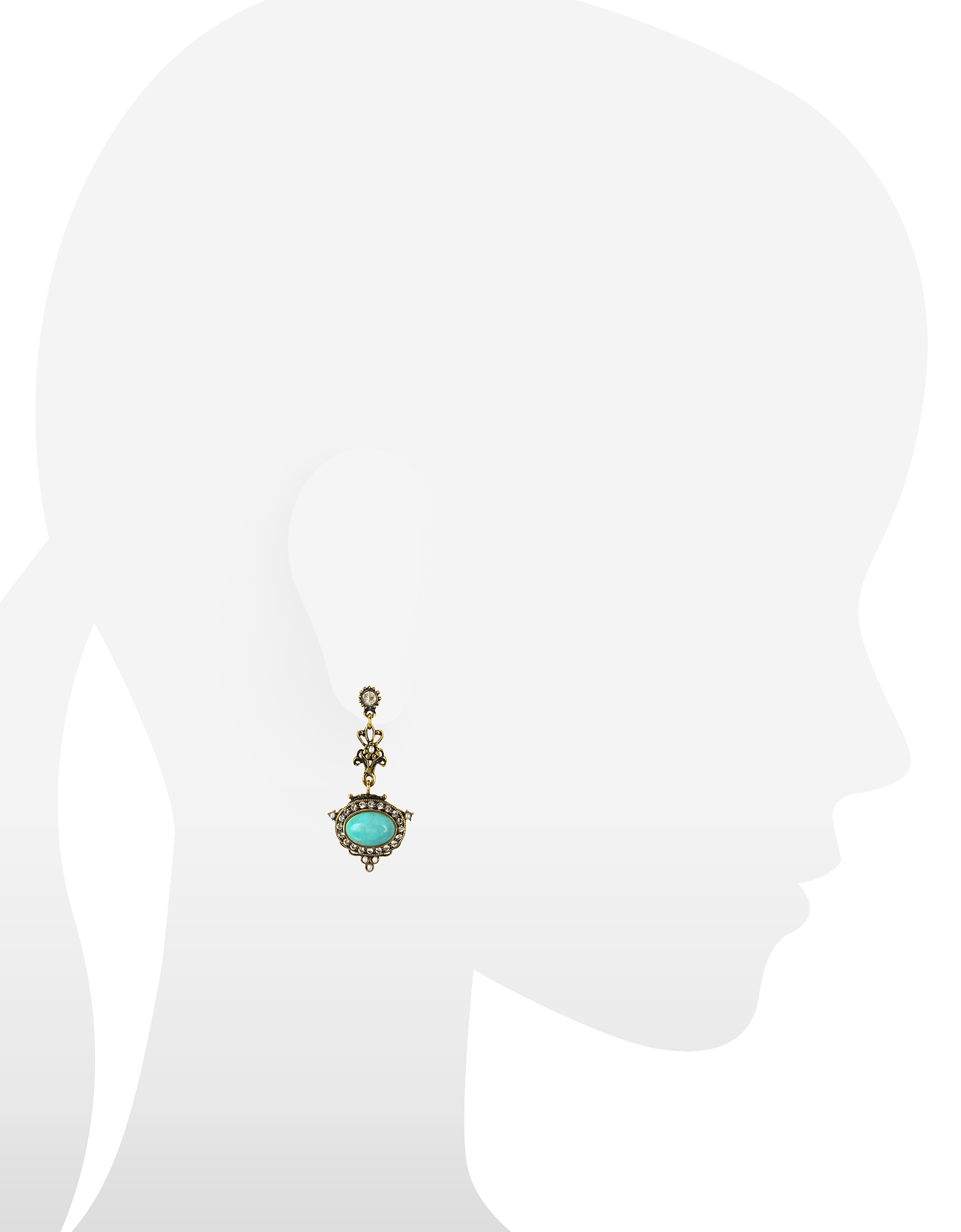 Magnesite Goldtone Brass Earrings w/Crystals от Forzieri.com INT