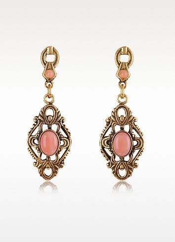 Gemstone Drop Earrings - Alcozer & J