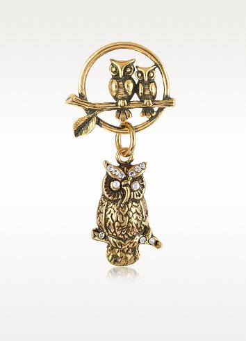 Owl Brass Pin - Alcozer & J