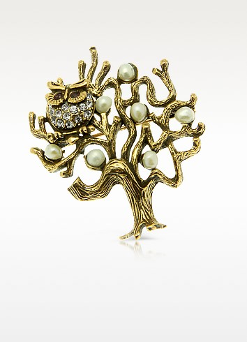 Tree with Owl Brooch - Alcozer & J