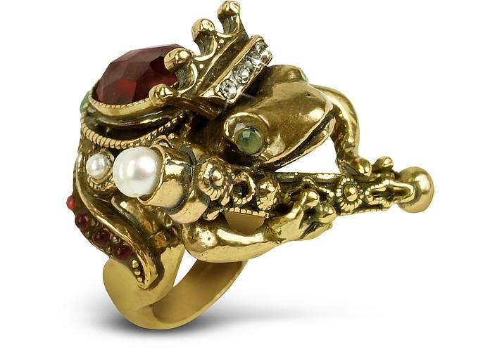 Gemstone Frog Prince Ring - Alcozer & J
