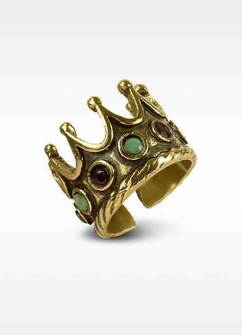 Gemstone Crown Ring - Alcozer & J