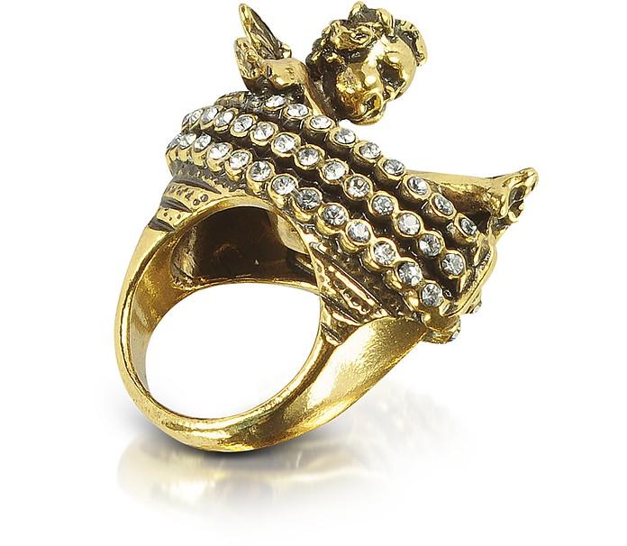 Brass Cherub Ring - Alcozer & J