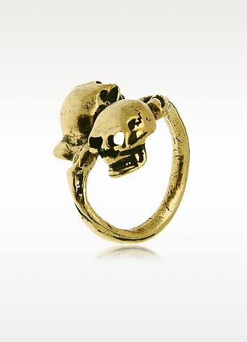 Skull Brass Ring - Alcozer & J
