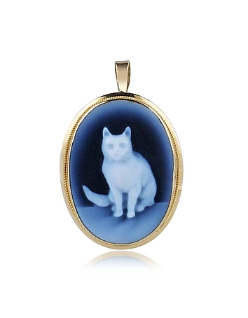 Del Gatto - Cat Agate Cameo Pendant