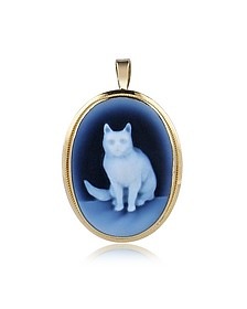 Cat Agate Cameo Pendant - Del Gatto