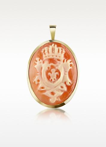 Crest Cornelian Cameo Pendant/Pin - Del Gatto