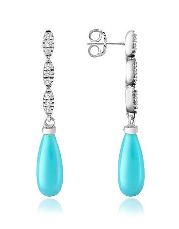 Del Gatto - Diamond and Gemstone Drop Earrings