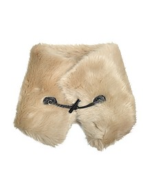 Faux-Fur Collar w/Leather Toggle  - Carven