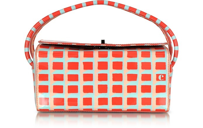 Printed Patent Leather Box Bag - Carven