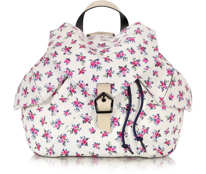 Liberty Print Leather Backpack - Carven