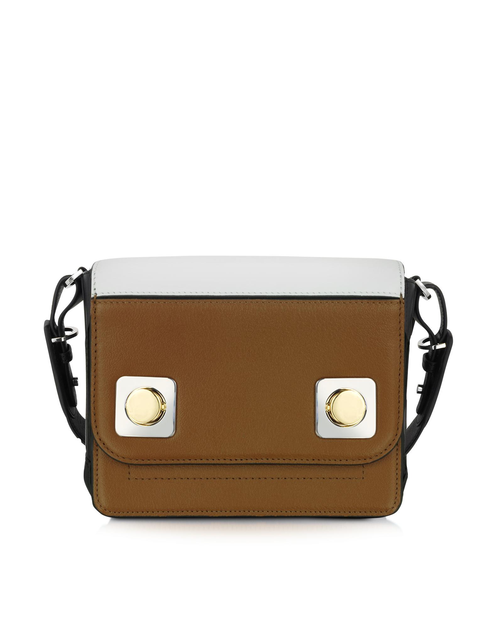 Petit Mercer Colorblock Leather Shoulder Bag - Carven
