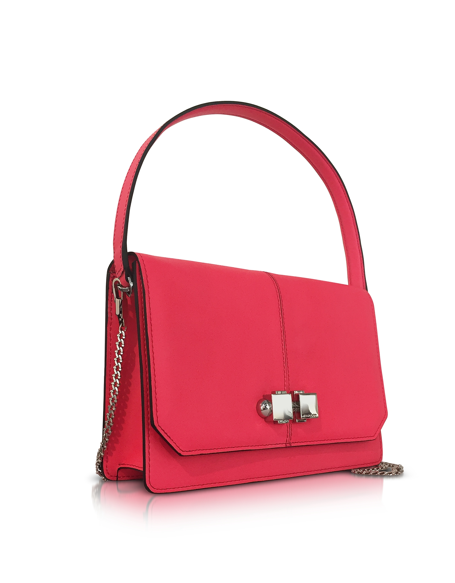 Neon Pink Leather Shoulder Bag от Forzieri.com INT