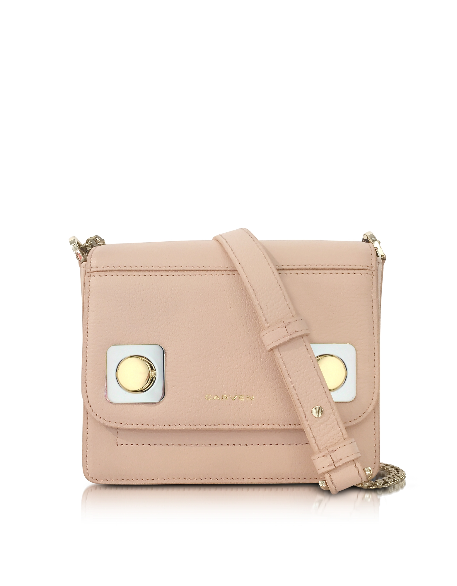 Mercer Petit Nude Leather Shoulder Bag от Forzieri.com INT