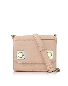 Mercer Petit Nude Leather Shoulder Bag  - Carven