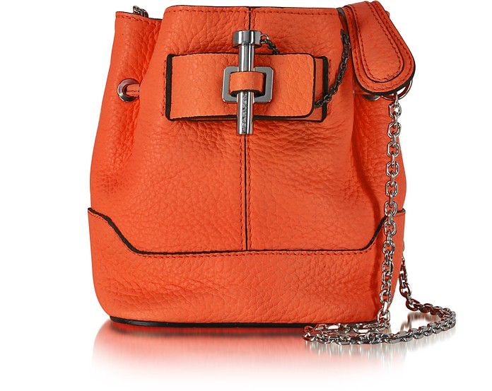 Malher Petit Sanguine Leather Bucket Bag - Carven