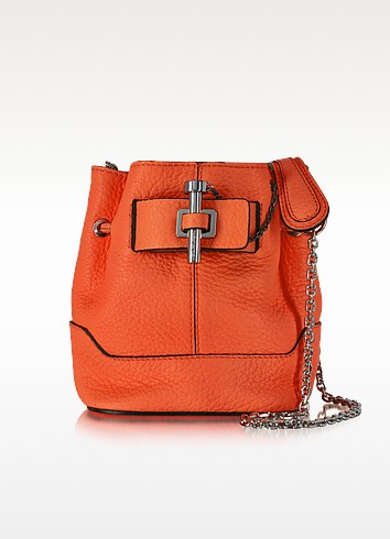 Malher Petit Sanguine Leather Bucket Bag - Carven