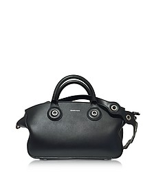 Black Leather Eyelet Tote - Carven