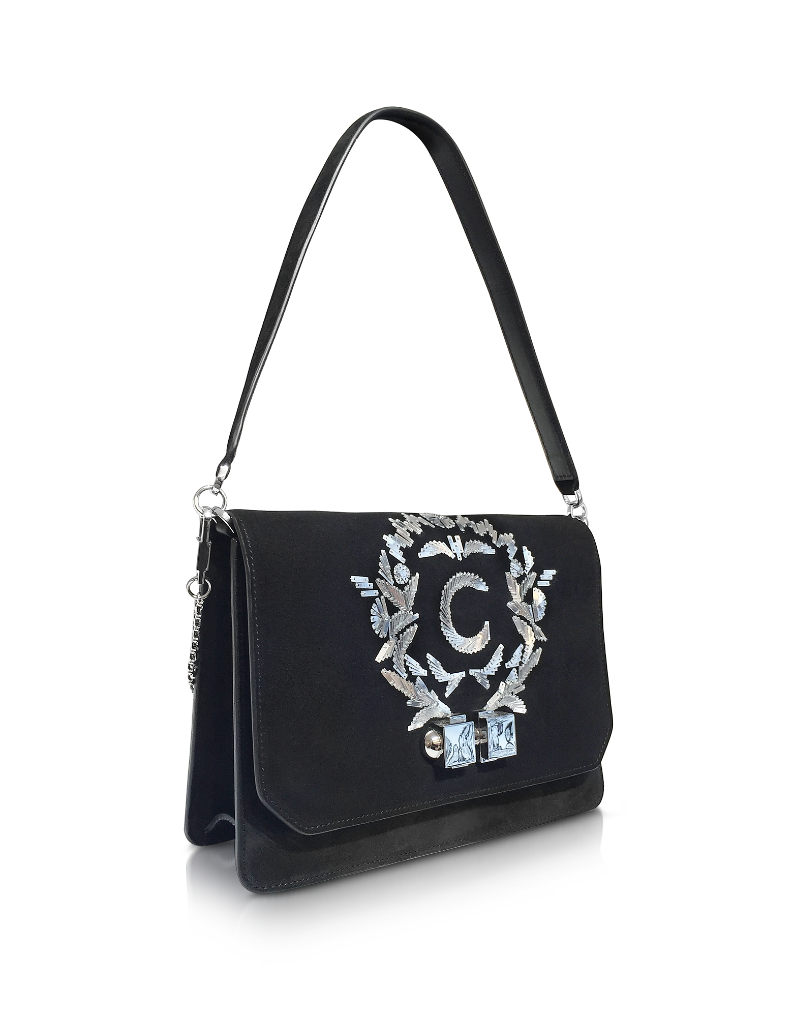 Black Signature Shoulder Bag от Forzieri.com INT