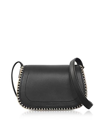 Mazarine Black Leather Crossbody Bag