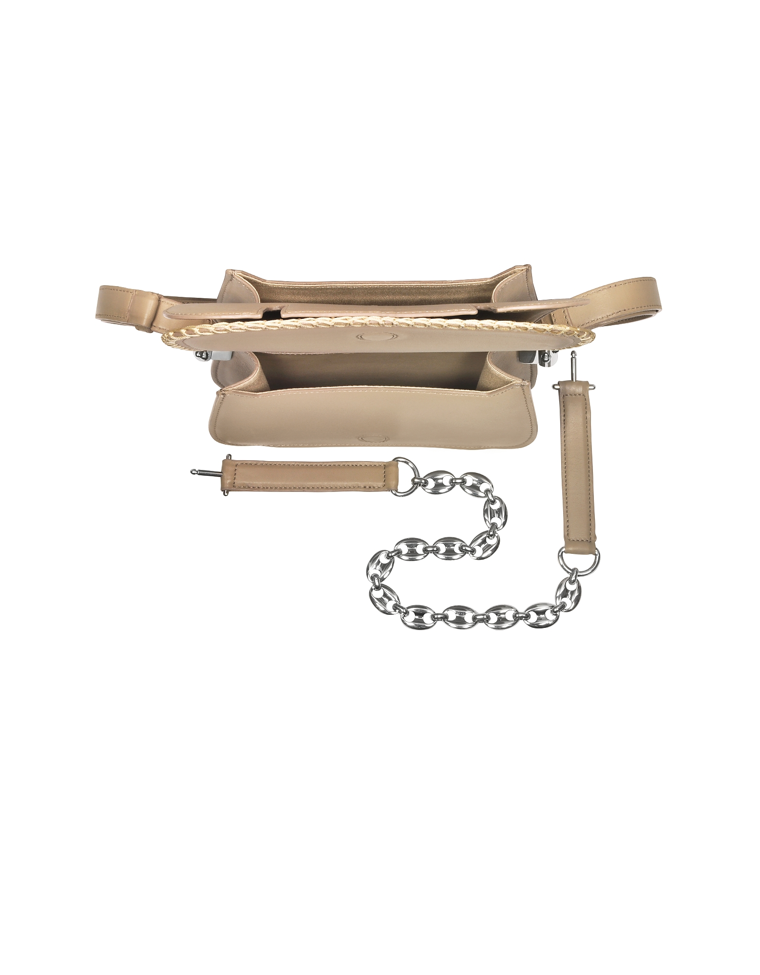 Mazarine Clay Leather Crossbody Bag от Forzieri.com INT