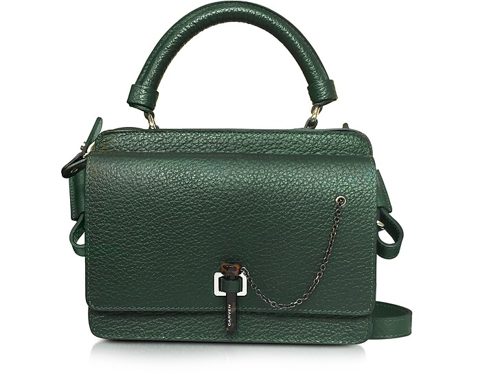 Malher Petit Dark Green Leather Camera Bag  - Carven