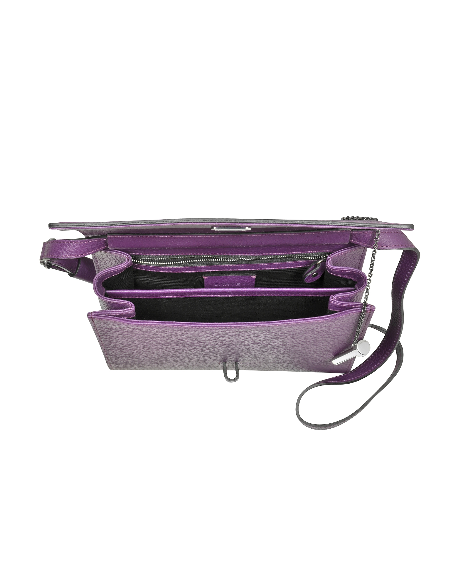 Malher Violet Grained Leather Crossbody Bag от Forzieri.com INT