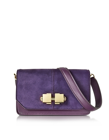 Violet Suede Shoulder Bag