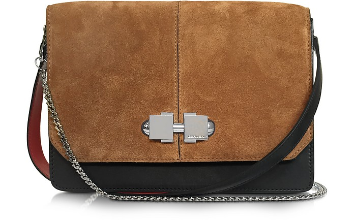 Cognac Suede Shoulder Bag - Carven