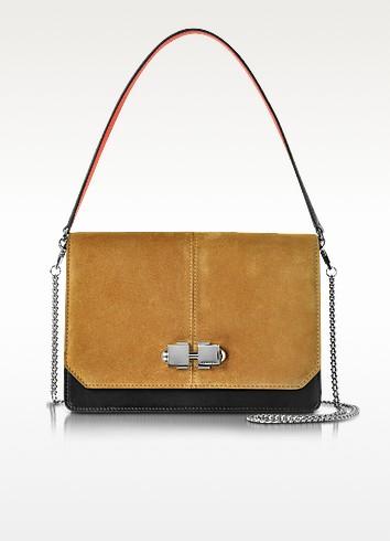 Cognac Suede Shoulder Bag - Carven