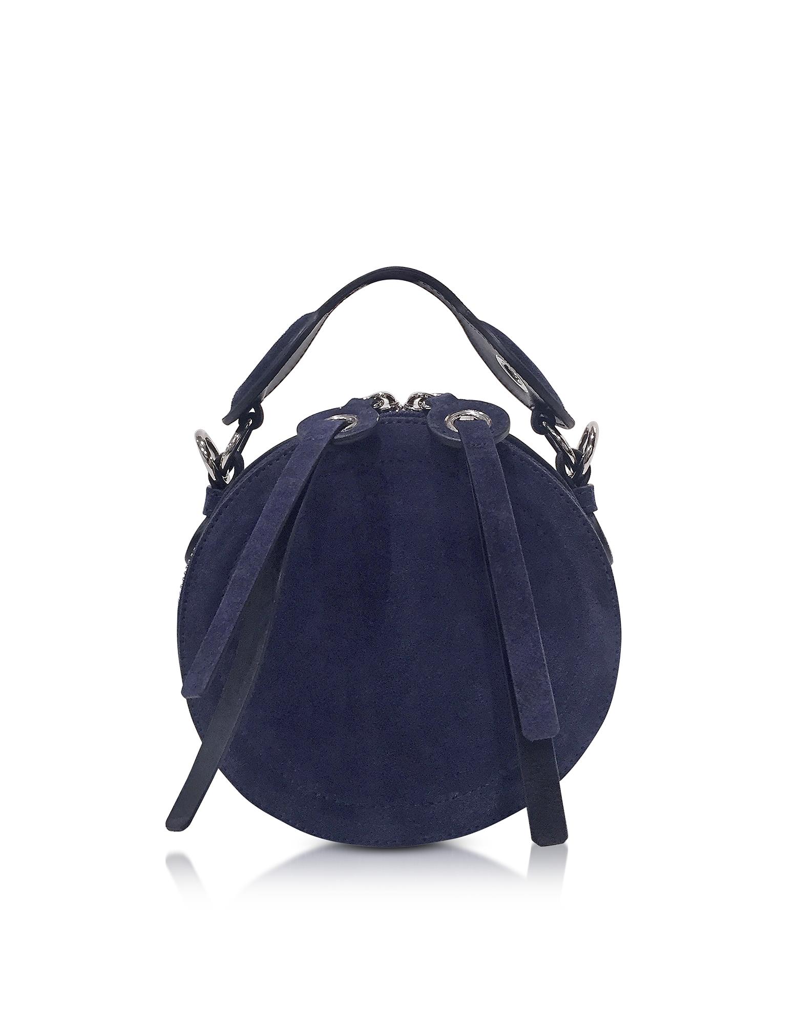 Фото Orsay - Круглая Темно-синяя Замшевая Сумка Через Плечо. Купить с доставкой