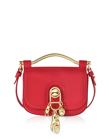 Carven Pepper Red Leather Misti Crossbody Bag