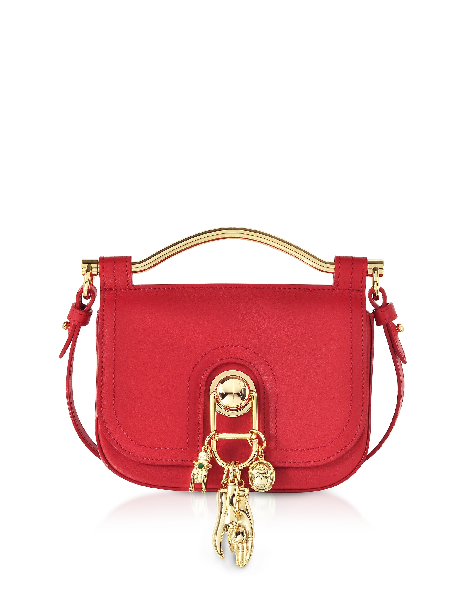 Carven Handbags, Pepper Red Leather Misti Crossbody Bag