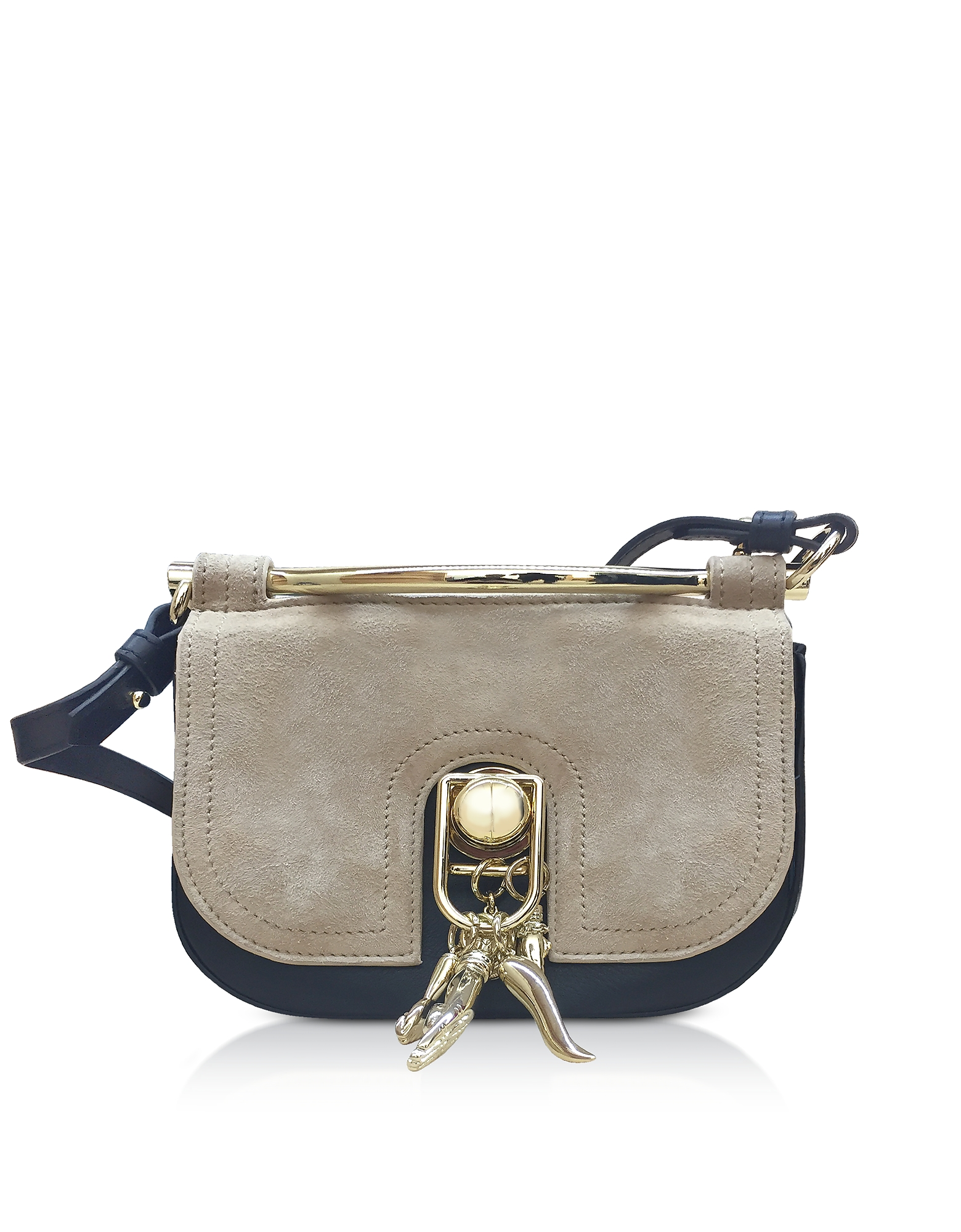 Suede and Leather Misti Crossbody Bag
