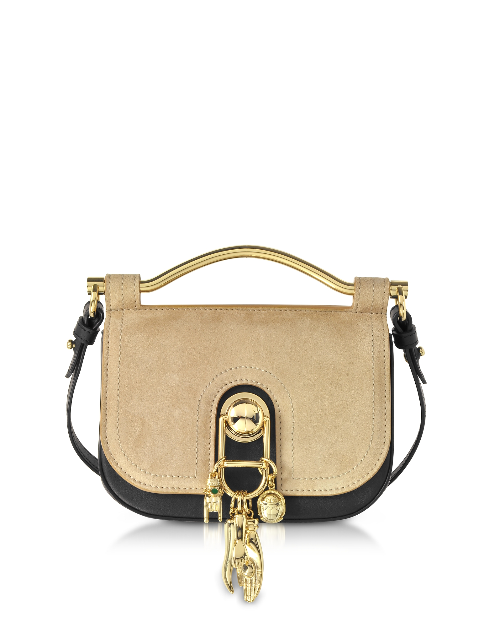 Carven Handbags, Suede and Leather Misti Crossbody Bag