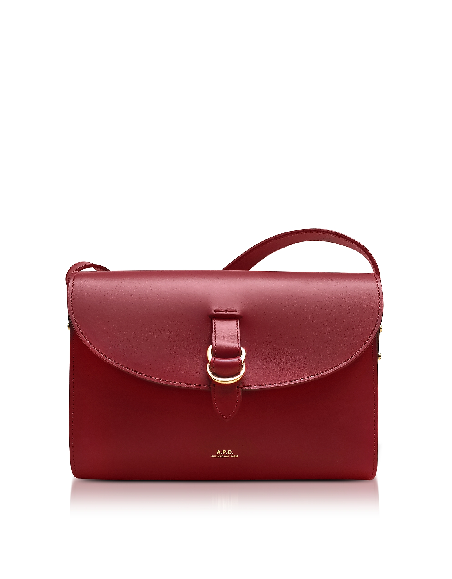 A.P.C. Handbags, Red Leather Alicia Shoulder Bag