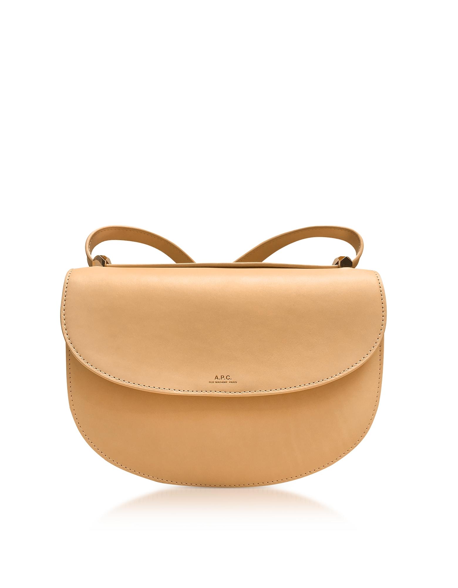 A.P.C. Handbags, Beige Geneve Leather Crossbody Bag