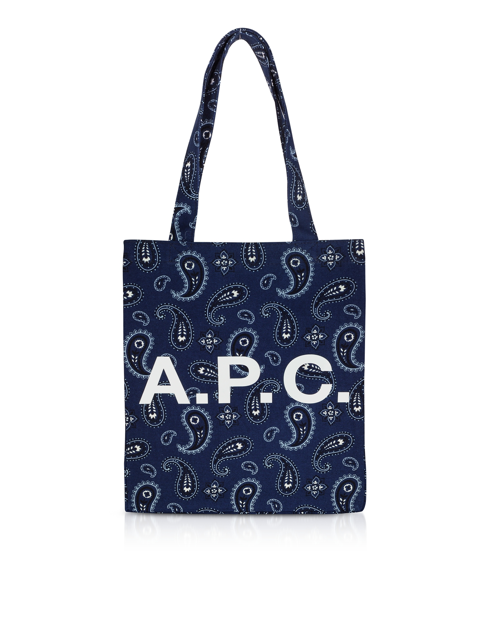A.P.C. Designer Handbags, Paisley Printed Canvas Lou Tote Bag