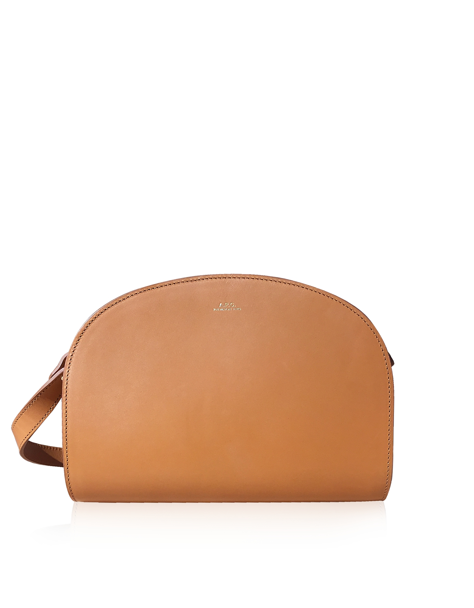 A.P.C. Handbags, Half Moon Smooth Leather Crossbody Bag