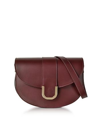 A.P.C. - Soho Lie De Vin Leather Crossbody Bag