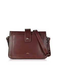 Albane Lie De Vin Leather Crossbody Bag - A.P.C.