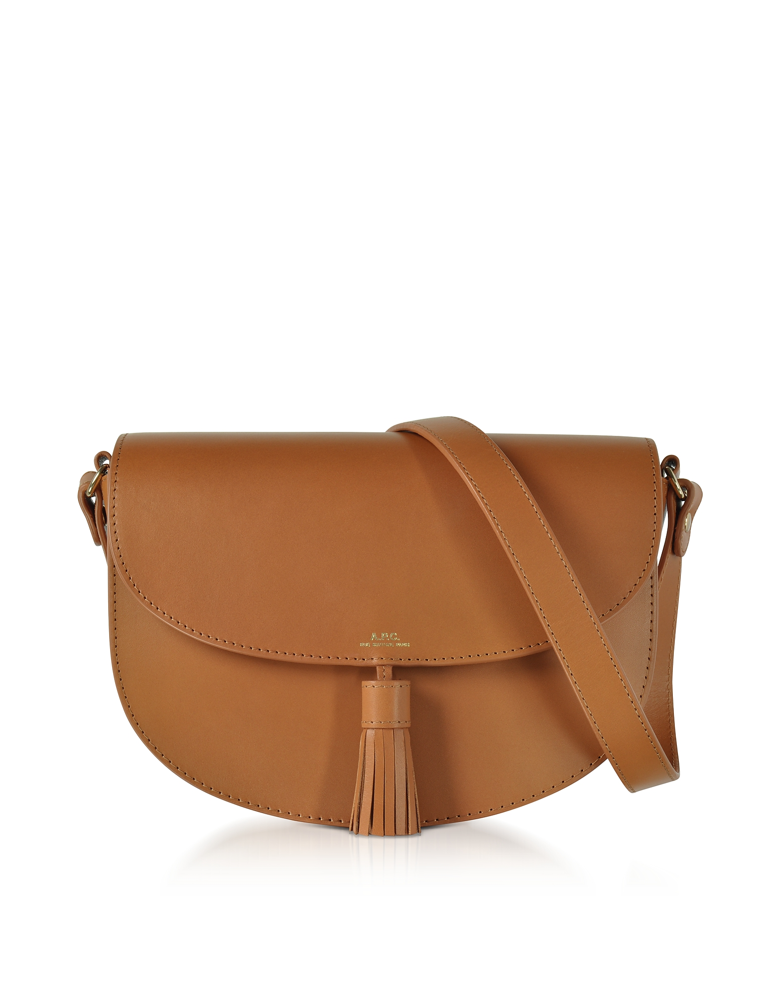 Diane Camel Leather Crossbody Bag