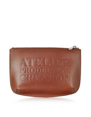 Forzieri DE A.P.C. Atelier Marron Leather Pochette