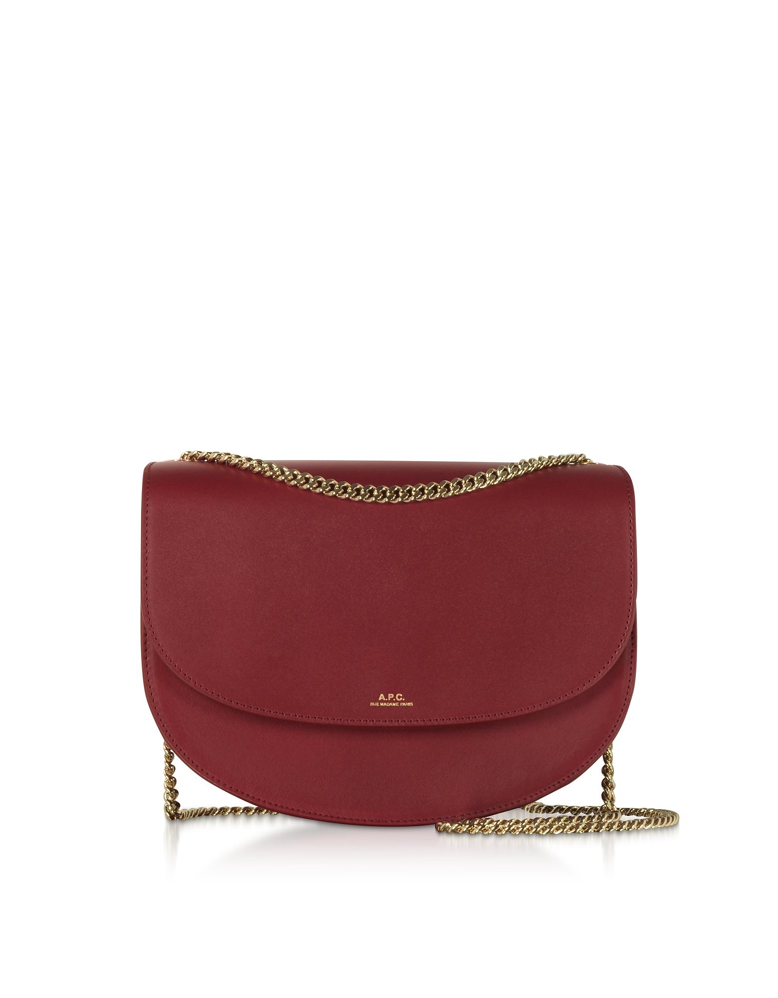 A.P.C. Designer Handbags, Genuine Leather Zurich Shoulder Bag