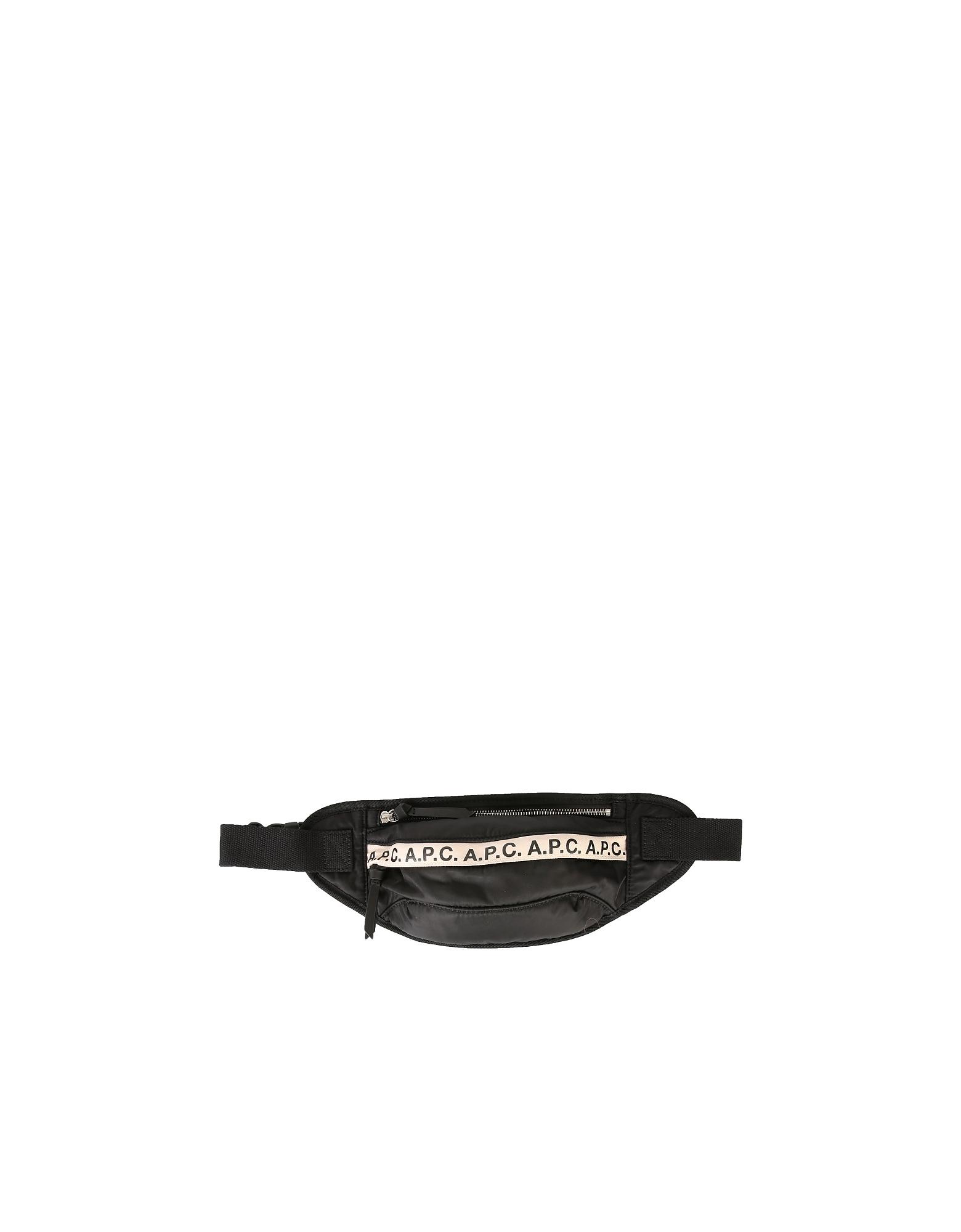 A.P.C. Designer Men's Bags, Belt Bag With Logo