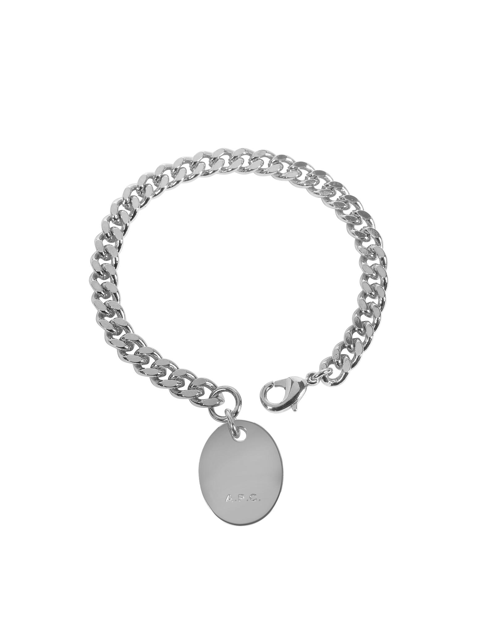 A.P.C. Bracelets, Hannaelle Chain Bracelet w/Oval Charm