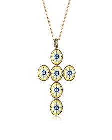 Capri Halskette aus Silber, Zirkon und Emaille - Azhar