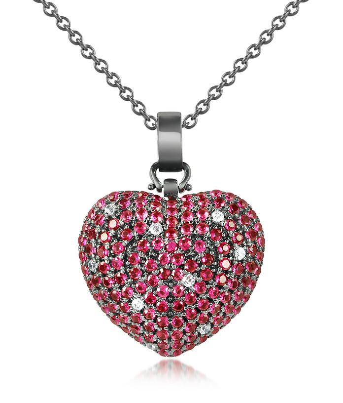 Halskette mit Herzanhänger aus Sterlingsilber und Zirkonsteinen - Azhar