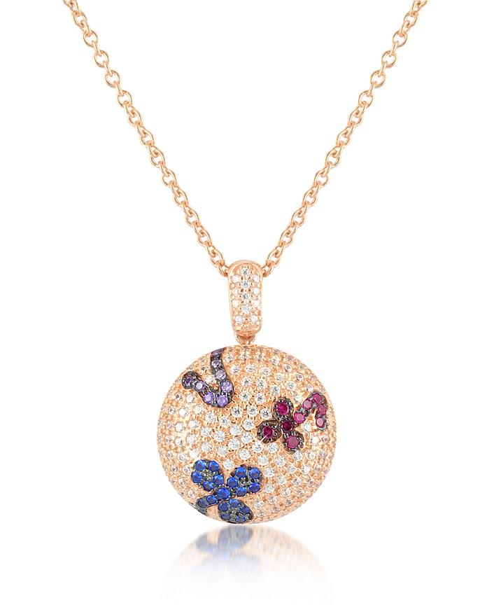 Modische Halskette in bunten Farben - Azhar
