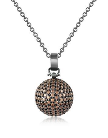 Semi-Sphere Pendant Necklace